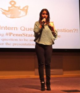 'Never take no for an answer': Intern Queen speaks to Penn State