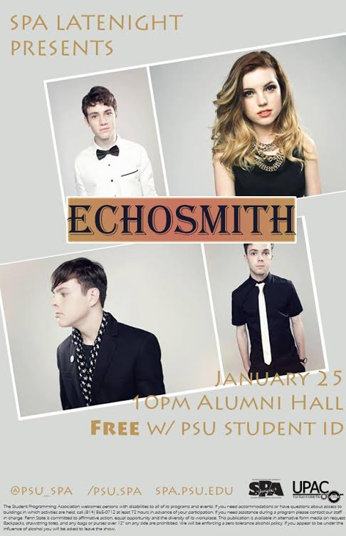 Hot New Band Echosmith to Perform at Penn State
