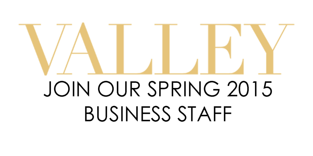Join our Spring 2015 Business Staff!